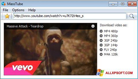 સ્ક્રીનશૉટ MassTube Windows XP
