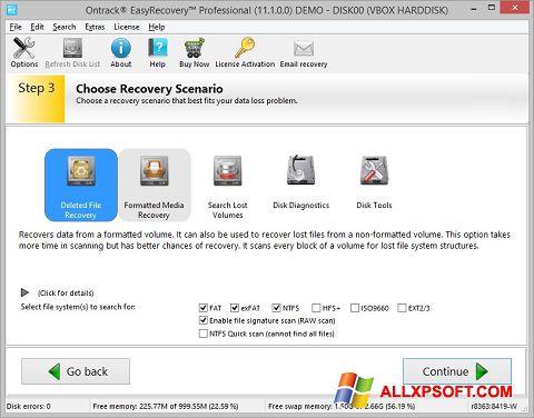 સ્ક્રીનશૉટ EasyRecovery Professional Windows XP