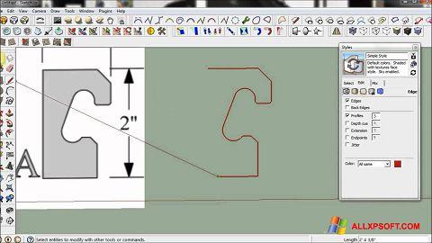 સ્ક્રીનશૉટ SketchUp Windows XP