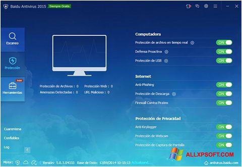 સ્ક્રીનશૉટ Baidu Antivirus Windows XP