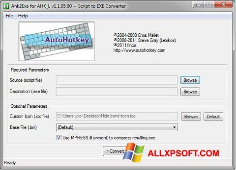 સ્ક્રીનશૉટ AutoHotkey Windows XP
