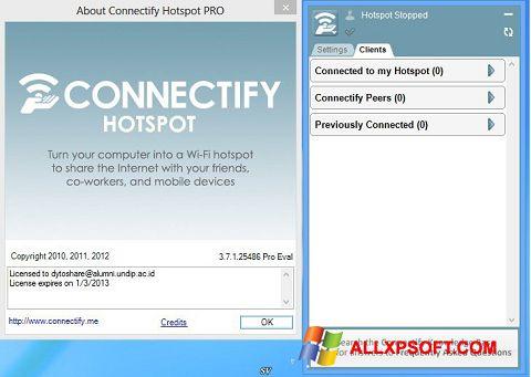 સ્ક્રીનશૉટ Connectify Pro Windows XP