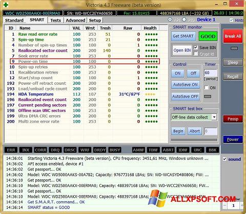 સ્ક્રીનશૉટ Victoria Windows XP