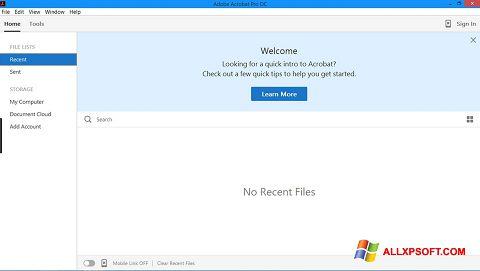 સ્ક્રીનશૉટ Adobe Acrobat Pro Windows XP