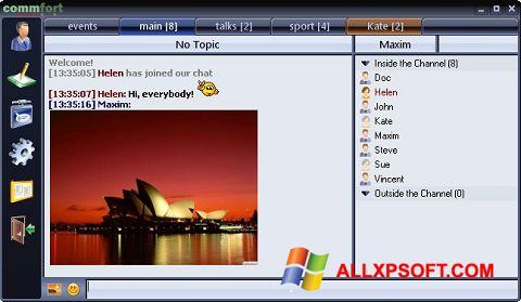 સ્ક્રીનશૉટ CommFort Windows XP