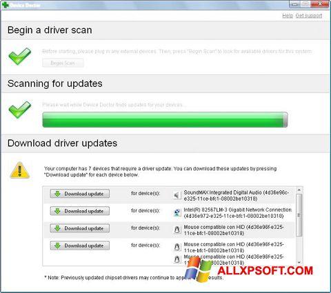 સ્ક્રીનશૉટ Device Doctor Windows XP
