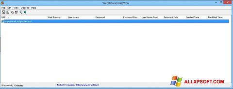 સ્ક્રીનશૉટ WebBrowserPassView Windows XP