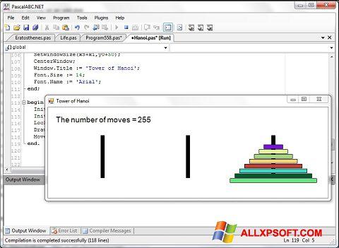 સ્ક્રીનશૉટ Pascal ABC Windows XP