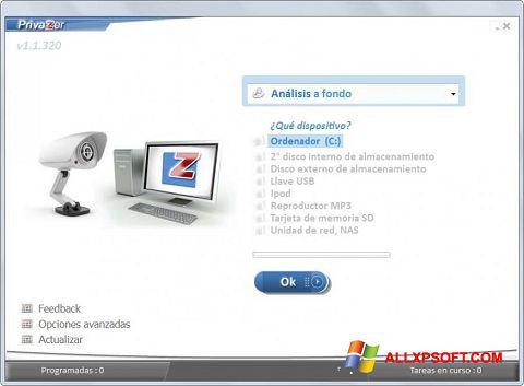 સ્ક્રીનશૉટ PrivaZer Windows XP
