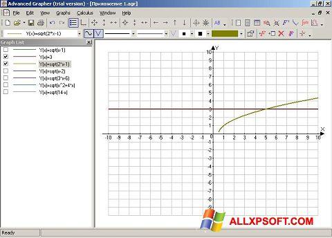 સ્ક્રીનશૉટ Advanced Grapher Windows XP