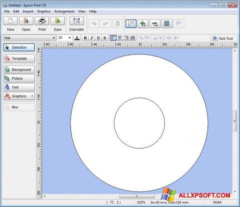 સ્ક્રીનશૉટ EPSON Print CD Windows XP