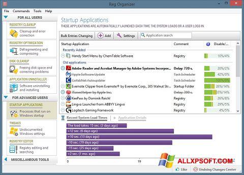 સ્ક્રીનશૉટ Reg Organizer Windows XP