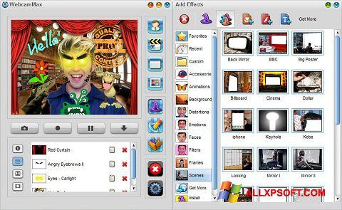 સ્ક્રીનશૉટ WebcamMax Windows XP