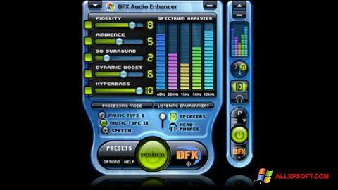સ્ક્રીનશૉટ DFX Audio Enhancer Windows XP