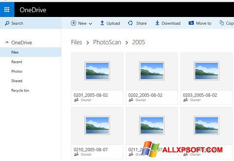 સ્ક્રીનશૉટ OneDrive Windows XP
