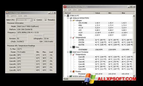 સ્ક્રીનશૉટ Core Temp Windows XP