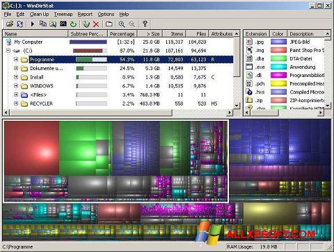 સ્ક્રીનશૉટ WinDirStat Windows XP