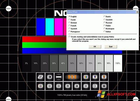 સ્ક્રીનશૉટ Nokia Monitor Test Windows XP