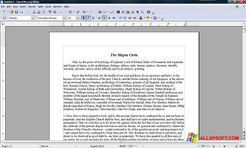 સ્ક્રીનશૉટ OpenOffice Windows XP
