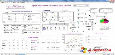 સ્ક્રીનશૉટ AnyLogic Windows XP