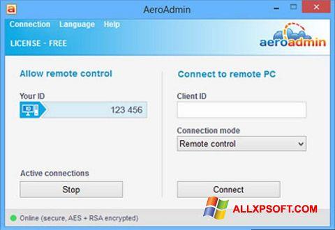 સ્ક્રીનશૉટ AeroAdmin Windows XP