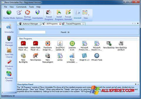 સ્ક્રીનશૉટ Revo Uninstaller Pro Windows XP